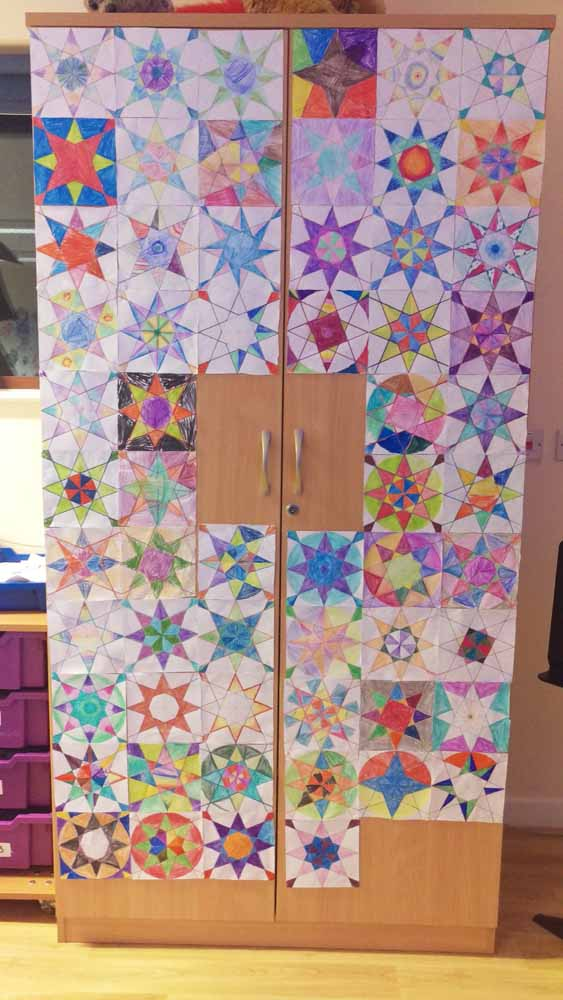 Tessellation of islamic geometric drawings from a schoo l workshop by Eric Broug