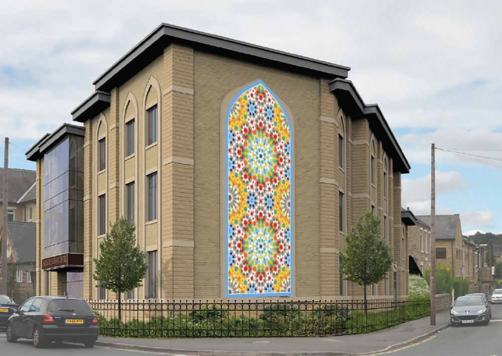 rendering of Islamic geometric composition in Dewsbury, by Eric Broug