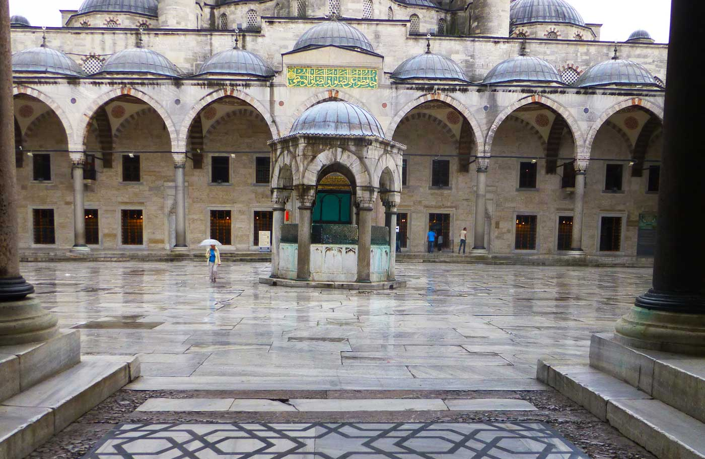 Islamic geometric pattern at the entrance of Sultanahmet Mosque in Istanbul